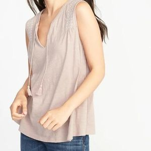 Old Navy Relaxed Sleeveless Tassel-Tie Top